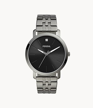 Lux Luther Three-Hand Smoke Stainless Steel Watch