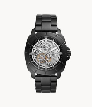 Privateer Sport Mechanical Black Stainless Steel Watch