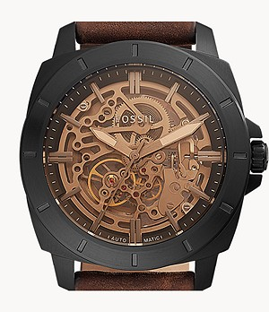 Privateer Sport Mechanical Brown Leather Watch
