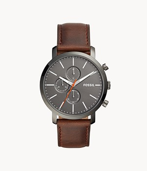 Herrenuhr Luther Chronograph Leder Braun