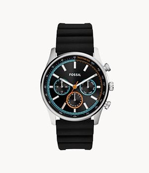 Sullivan Multifunction Black Silicone Watch