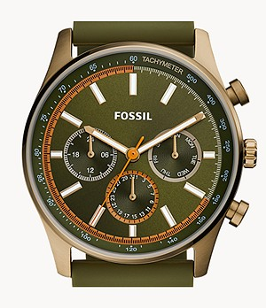 Sullivan Multifunction Olive Green Silicone Watch