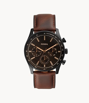 Sullivan Multifunction Brown Leather Watch
