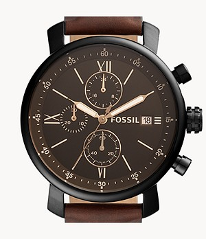 Rhett Chronograph Brown Leather Watch