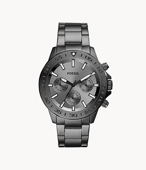 Bannon Multifunction Smoke Stainless Steel Watch