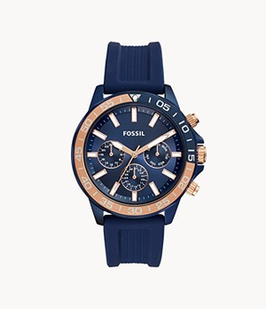 Bannon Multifunction Blue Silicone Watch