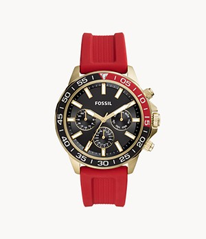 Bannon Multifunction Red Silicone Watch