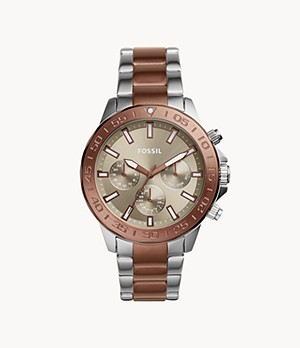 Bannon Multifunction Copper-Tone Stainless Steel Watch