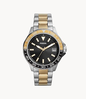 Bannon Three-Hand Date Two-Tone Stainless Steel Watch