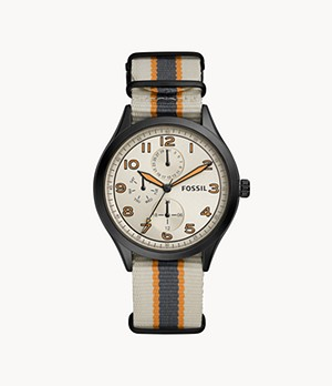 Wylie Multifunction White Nylon Watch