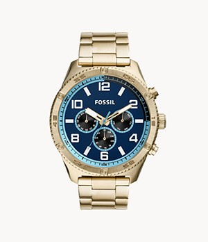 Brox Multifunction Gold-Tone Stainless Steel Watch
