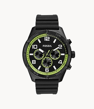 Brox Multifunction Black Silicone Watch