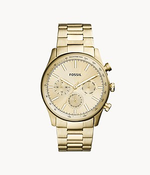 Sullivan Multifunction Gold-Tone Stainless Steel Watch