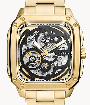 Inscription Automatic Gold-Tone Stainless Steel Watch