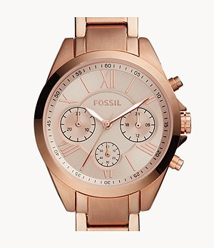 Modern Courier Midsize Chronograph Rose Gold-Tone Stainless Steel Watch