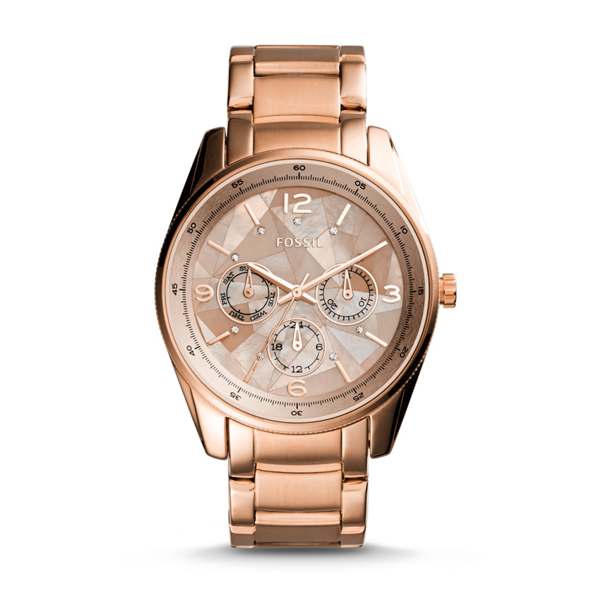 Justine Multifunction Rose Gold-Tone Stainless Steel Watch