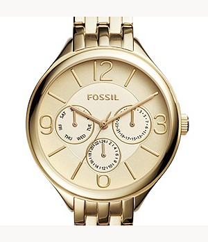 Suitor Multifunction Gold-Tone Stainless Steel Watch