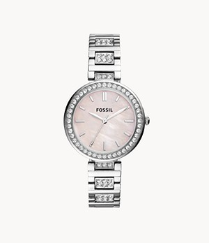 Karli Three-Hand Stainless Steel Watch