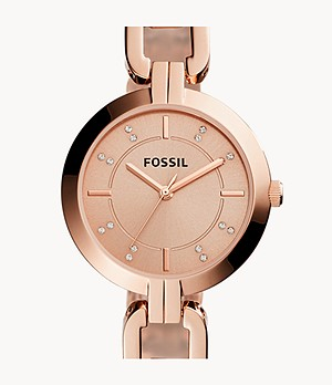 Kerrigan Three-Hand Rose Gold-Tone Stainless Steel Watch