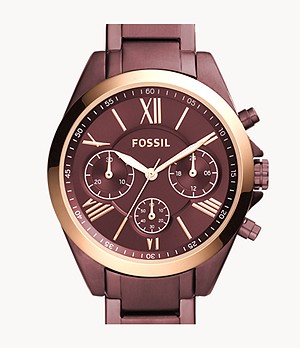 Modern Courier Midsize Chronograph Wine Stainless Steel Watch