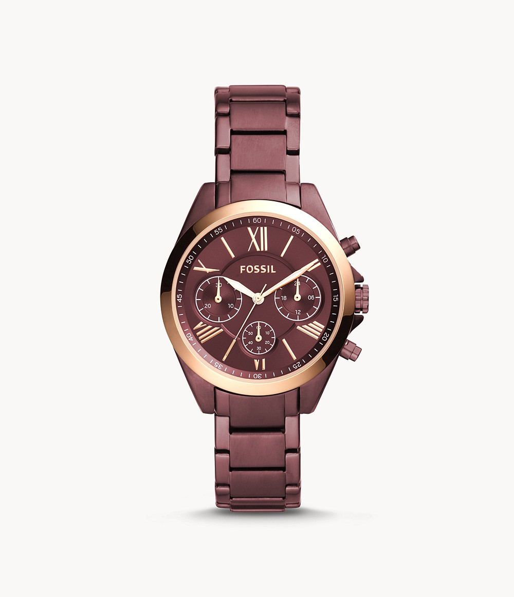 Modern Courier Midsize Chronograph Wine Stainless Steel Watch - BQ3281 - Watch Station