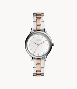 Laney Three-Hand Two-Tone Stainless Steel Watch
