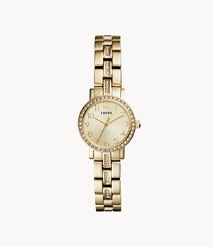 Shae Mini Three-Hand Gold-Tone Stainless Steel Watch