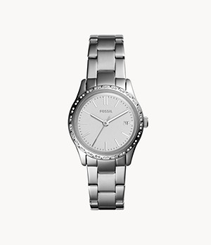 Adalyn Three-Hand Stainless Steel Watch