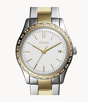 Adalyn Three-Hand Two-Tone Stainless Steel Watch
