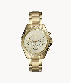 Modern Courier Chronograph Gold-Tone Stainless Steel Watch