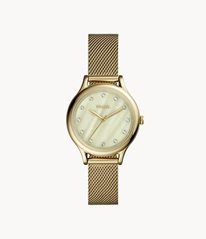 Laney Three-Hand Gold-Tone Stainless Steel Watch