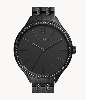 Suitor Three-Hand Black Stainless Steel Watch