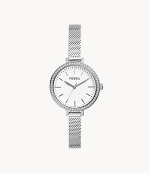 Classic Minute Three-Hand Stainless Steel Watch