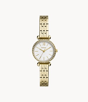 Tillie Mini Three-Hand Gold-Tone Stainless Steel Watch