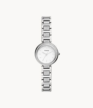 Karli Mini Three-Hand Stainless Steel Watch