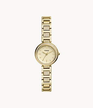 Karli Mini Three-Hand Gold-Tone Stainless Steel Watch