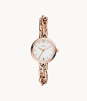Embry Three-Hand Rose Gold-Tone Stainless Steel Watch