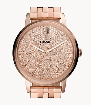 Cambry Three-Hand Rose Gold-Tone Stainless Steel Watch