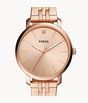 Lexie Luther Three-Hand Rose Gold-Tone Stainless Steel Watch