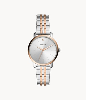 Lexie Luther Three-Hand Two-Tone Stainless Steel Watch