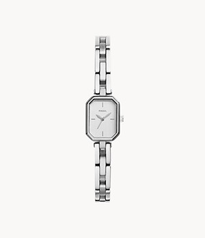 Audelia Three-Hand Stainless Steel Watch