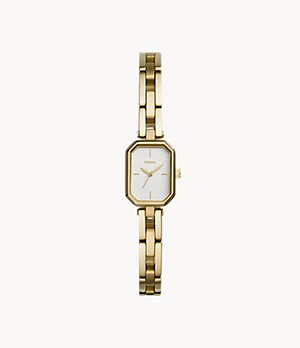 Audelia Three-Hand Gold-Tone Stainless Steel Watch