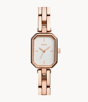 Audelia Three-Hand Rose Gold-Tone Stainless Steel Watch