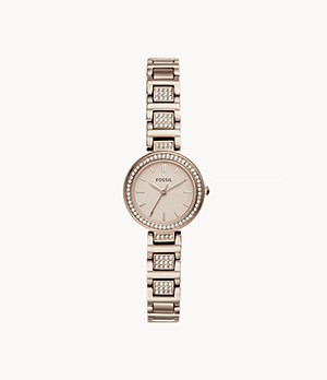 Karli Mini Three-Hand Pastel Pink Stainless Steel Watch