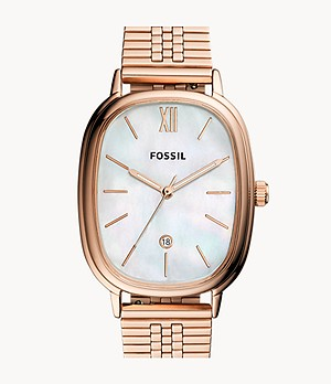 Lyla Three-Hand Date Rose Gold-Tone Stainless Steel Watch