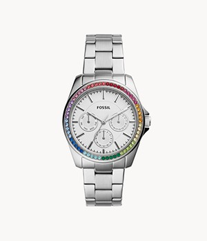 Janice Multifunction Stainless Steel Watch