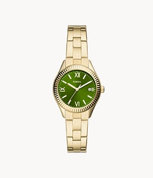 Rye Three-Hand Date Gold-Tone Stainless Steel Watch