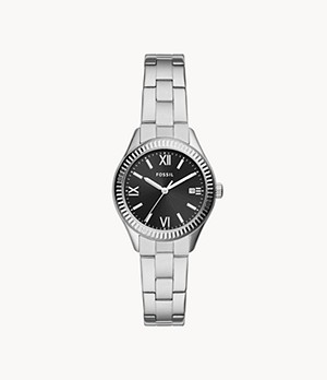 Rye Three-Hand Date Stainless Steel Watch