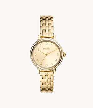 Reid Three-Hand Gold-Tone Stainless Steel Watch
