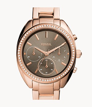 Vale Chronograph Rose Gold-Tone Stainless Steel Watch